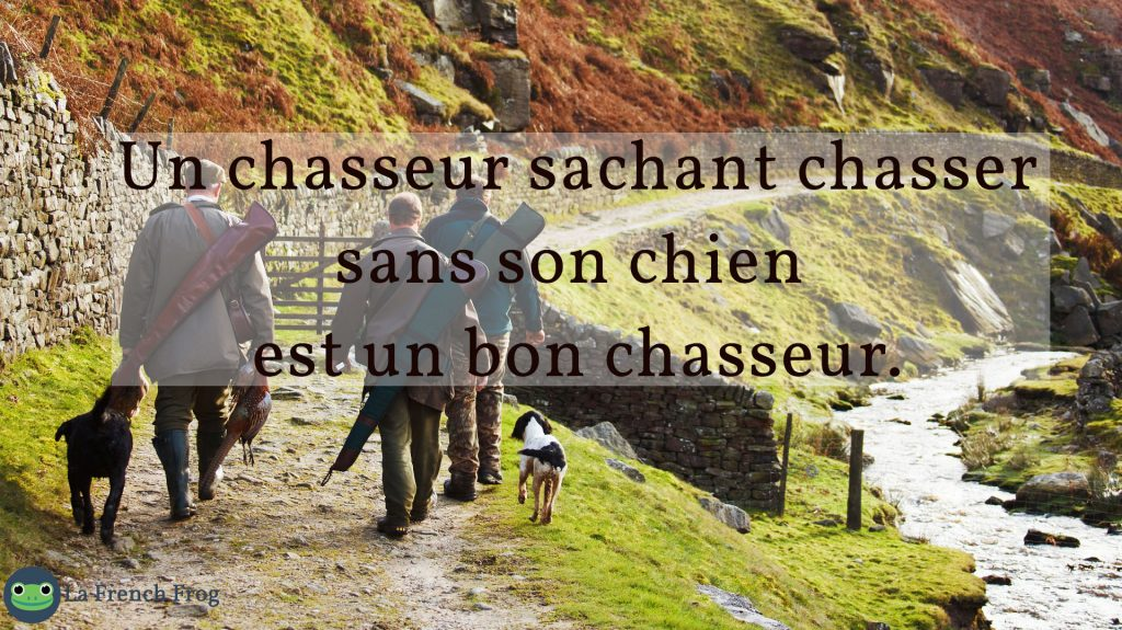 Unchasseur chassant chassser...
