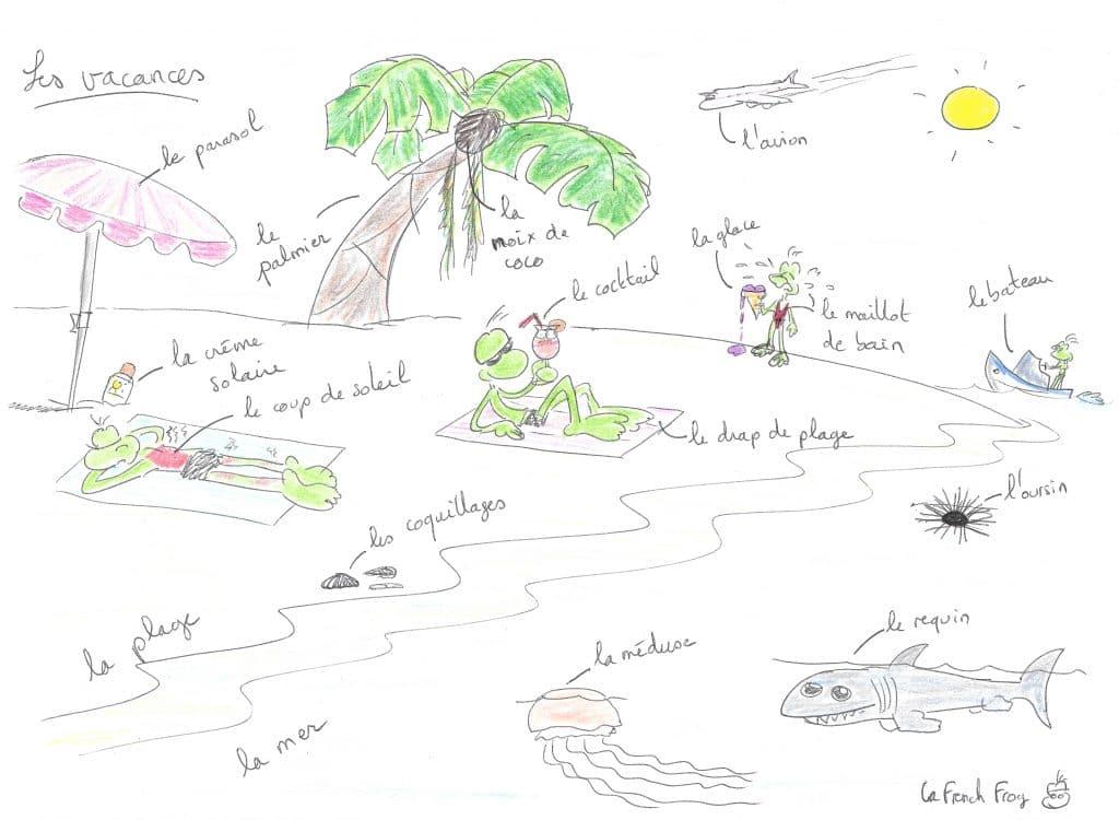 Les grenouilles en vacances