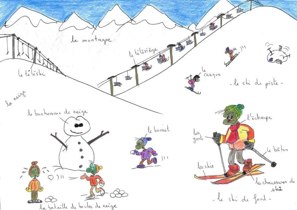 vocabulaire vacances d'hiver